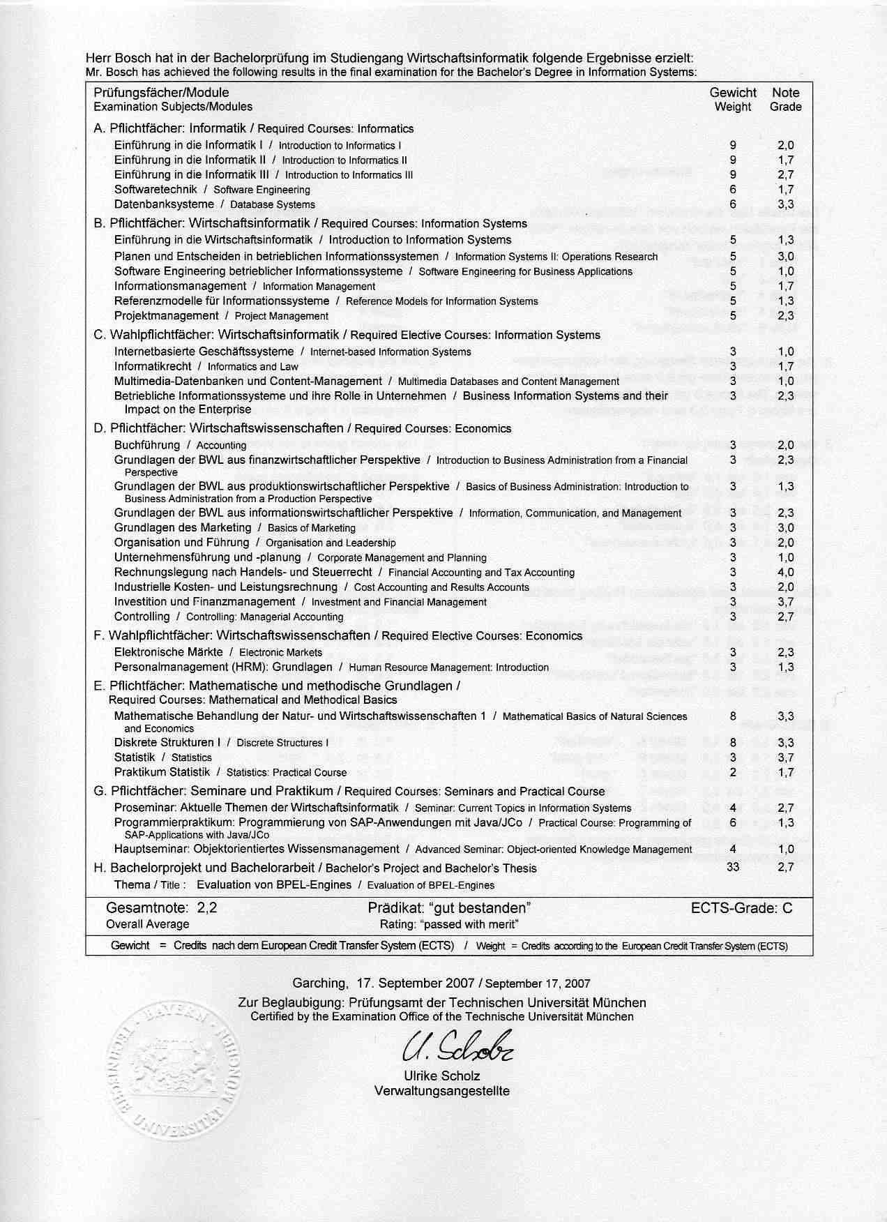 Gesamtnote der Dissertation - Promovieren in Deutschland - Hochschulkompass